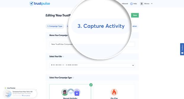 Capture Activity Tab