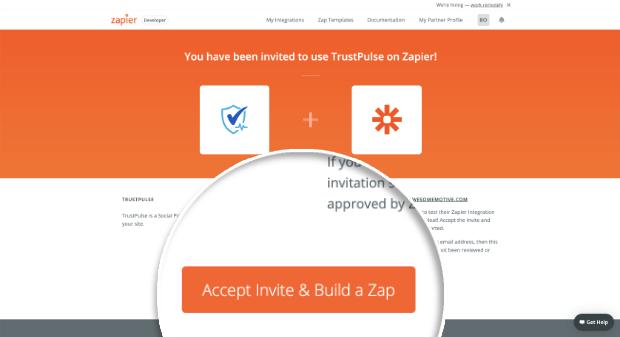 Accept Invite and Build a Zap