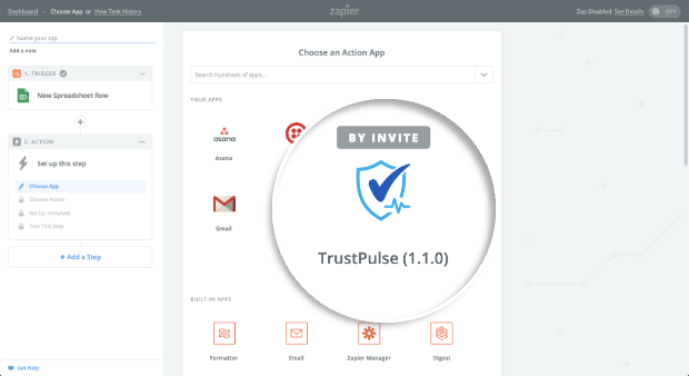 Select TrustPulse App