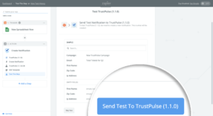 Send Test to TrustPulse