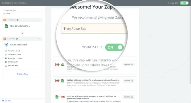 Enable Zap