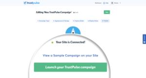 Launch TrustPulse Campaign