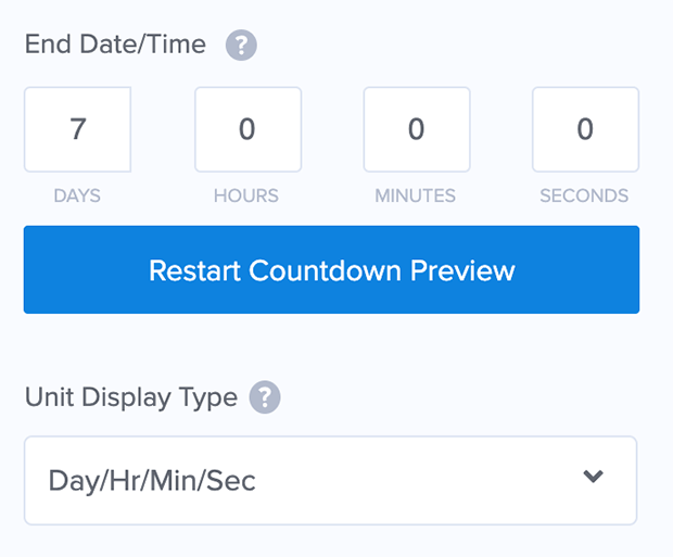 om countdown timer example