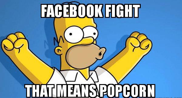 facebook fight meme