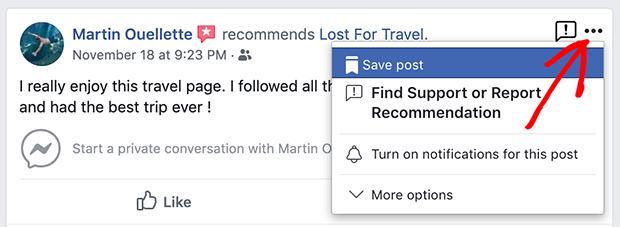 report a review facebook