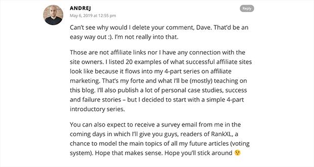 negative comment response