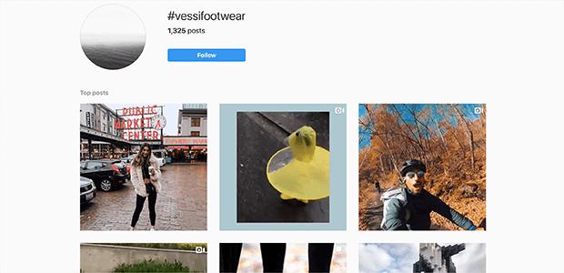 vessi footwear hashtag