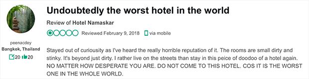 worst hotel review