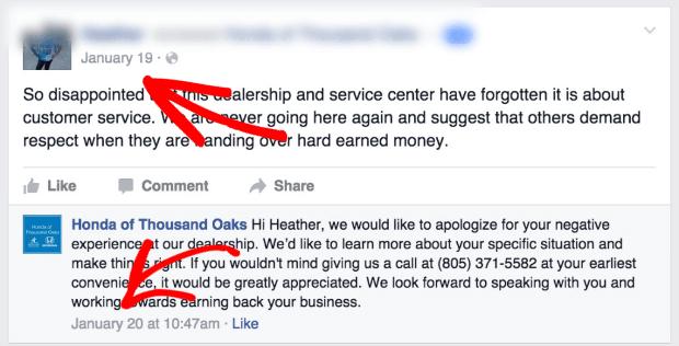Respond quickly to negative reviews