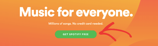 Spotify-call-to-action-example