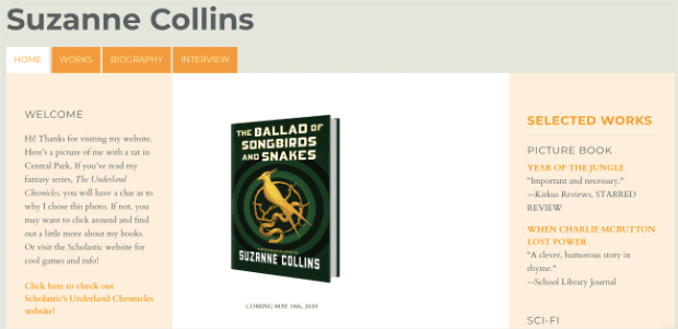 Suzanne-Collins-Bad-Website-Example