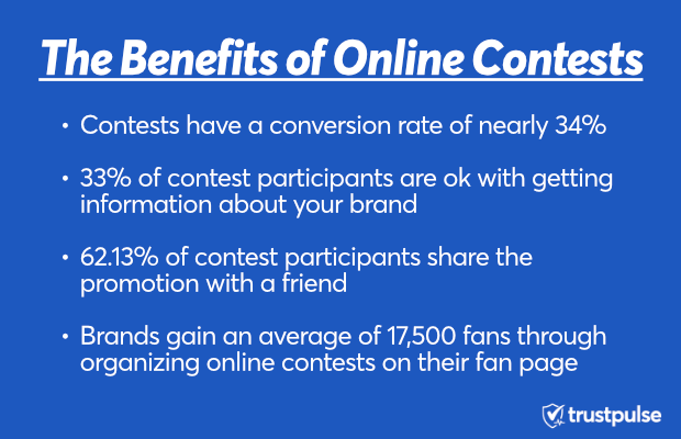 The benefits of online contests for TrustPulse