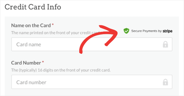 WPBeginner Secured Payment Trust Badge