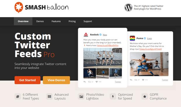 custom twitter feeds pro smash balloon