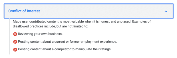 Conflict-of-Interest-google-policies