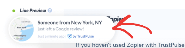 Google Review with TrustPulse