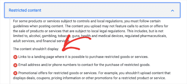 Google-review-policy-no-spam-or-restricted-content
