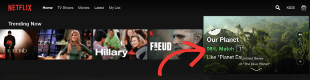 Netflix movie recommendation