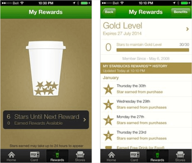 Starbucks Gamified App