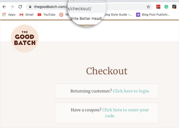 Live sales notification for woocommerce - URL for checkout