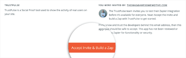 Accept and Build a Zap