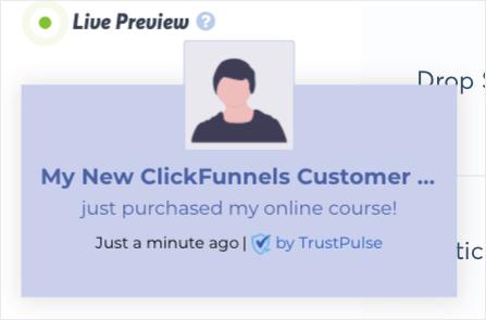 ClickFunnels conversion alert different style demonstration