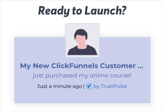 Live Preview of ClickFunnels conversion alert