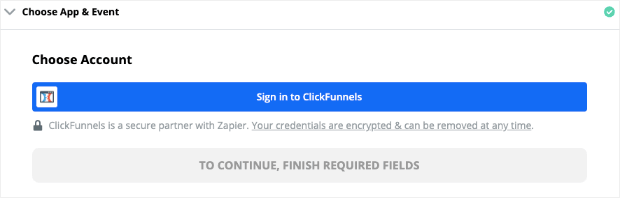 Sign in to ClickFunnels