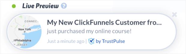 clickfunnels conversion alert demo no arrow