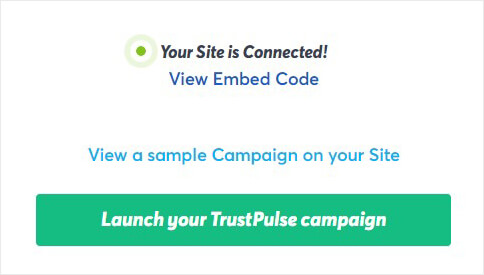 Launch TrustPulse campaign