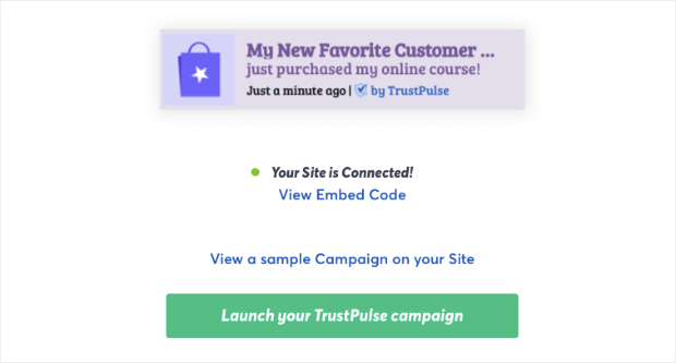 Launch Your TrustPulse campaign for Elementor demo-min