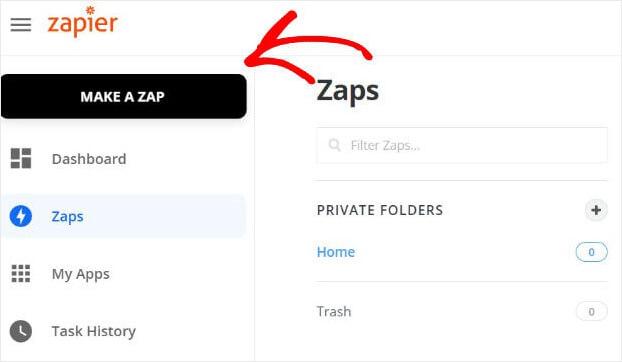 Make a Zap in Zapier