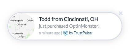 OptinMonster fomo notification