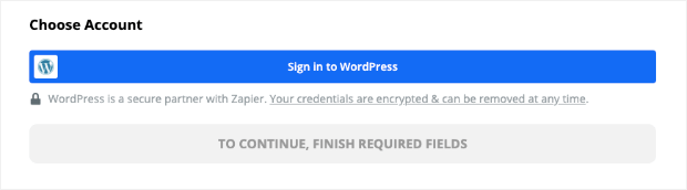 Sign into WordPress