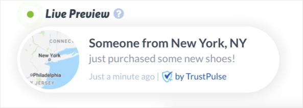 TrustPulse default campaign