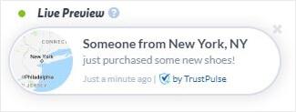 TrustPulse real time user notification -min