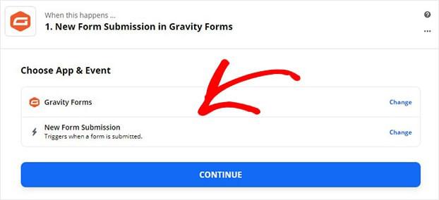 Zapier Gravity trigger