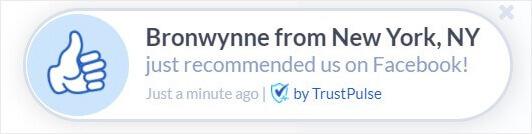 Facebook review button FOMO example