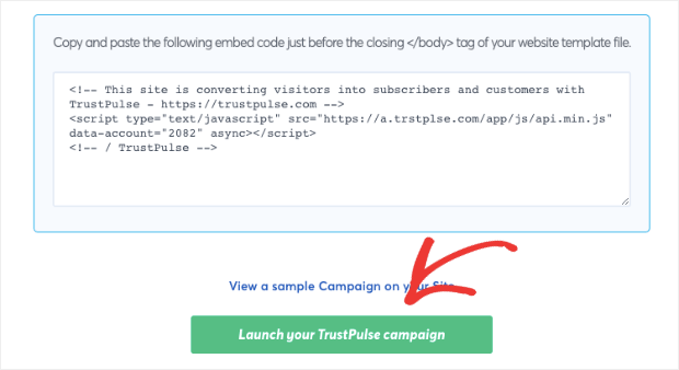 Launch your trustpulse campaign weebly site-min
