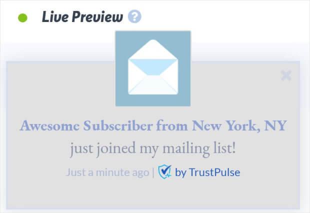 Blogger social proof notification