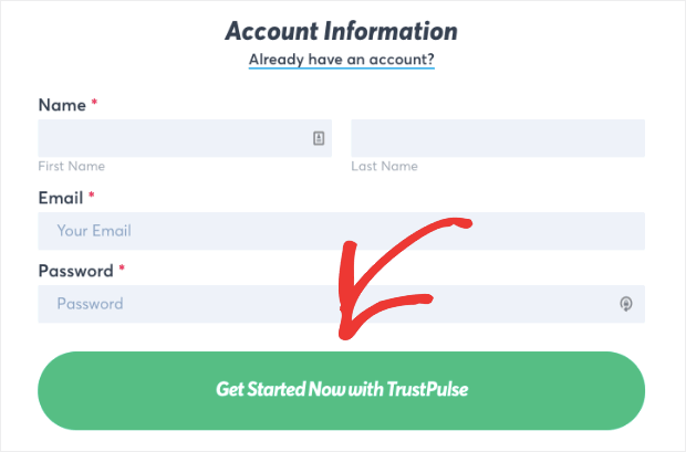 Get started with TrustPulse