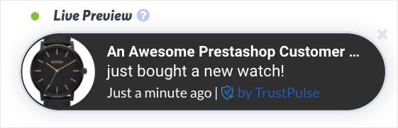 Prestashop social proof notification demo