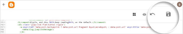 Save TrustPulse embed code in Blogger
