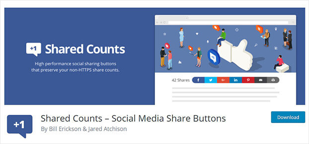 Shared Counts social proof software