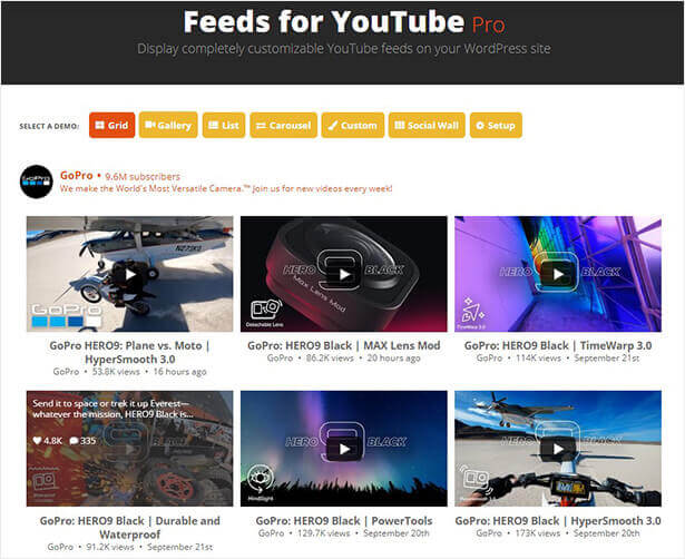 Smash balloon social proof plugin YouTube feed