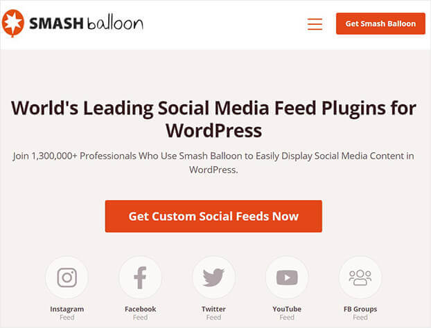 SmashBalloon social proof software_