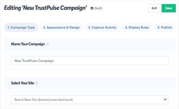 TrustPulse Name Campaign