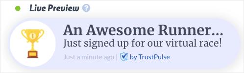 TrustPulse social proof notification for WordPress demo