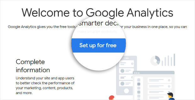 Google Analytics home page