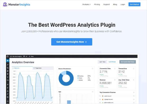MonstersInsights Google Analytics Plugin for WordPress